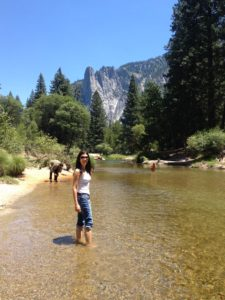 In Yosemite fascinated by baby lobsters swimming all around us
