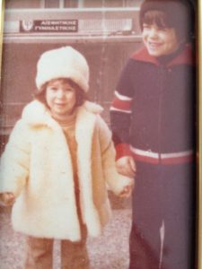 My brother and I on the balcony of our first apartment in Pireaus, circa 1981