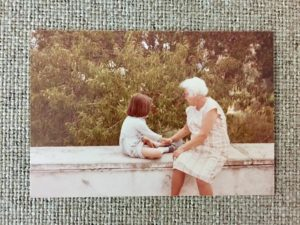I still remember this conversation with my yiayia on the balcony of our house in Karpathos as one of our best (summer, 1984)