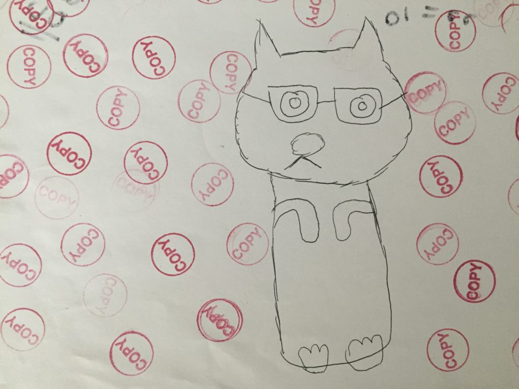 As Anna's artwork from second grade suggests... don't be a Copy Cat, be yourself.