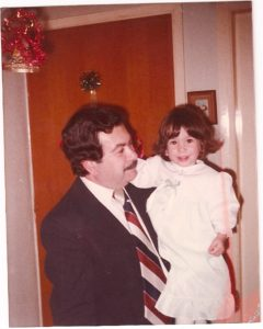 One of my favorite photos of my dad and me, this one at our first home in Pireaus