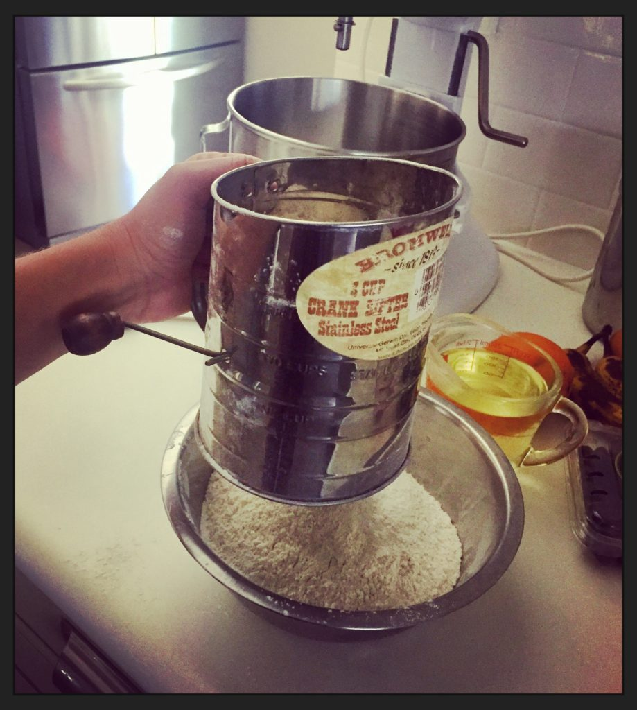 I love using my grandmother's old sifter!