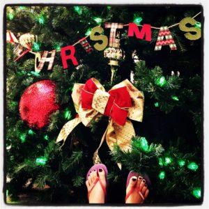 A South Florida Christmas requires flip flops.